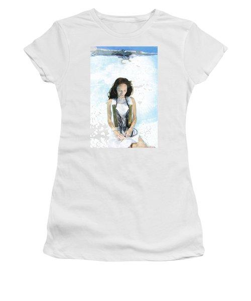Woman Floats Underwater  Women's T-Shirt