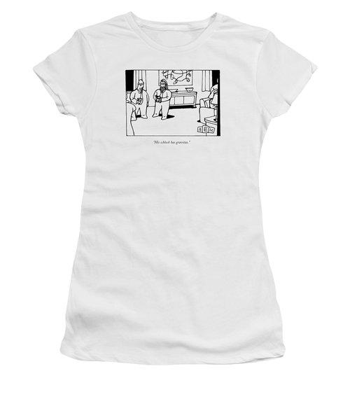 His Schlock Has Gravitas Women's T-Shirt