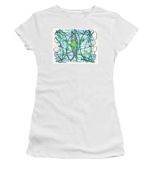 2013 Abstract Drawing #23 Women's T-Shirt (Athletic Fit)