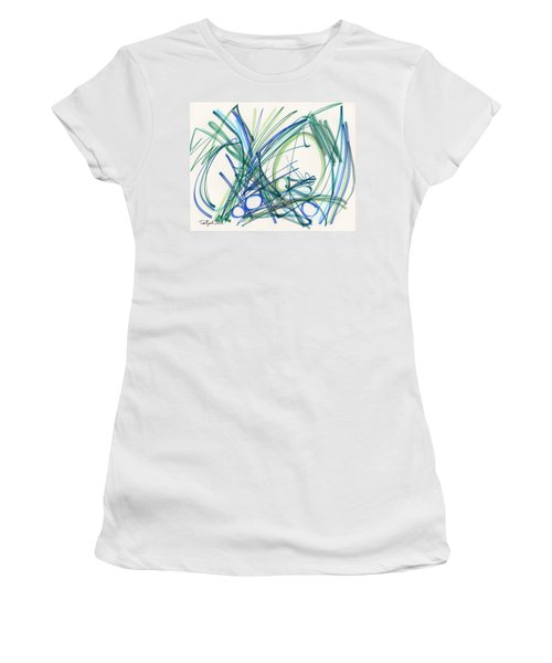 2013 Abstract Drawing #8 Women's T-Shirt (Athletic Fit)