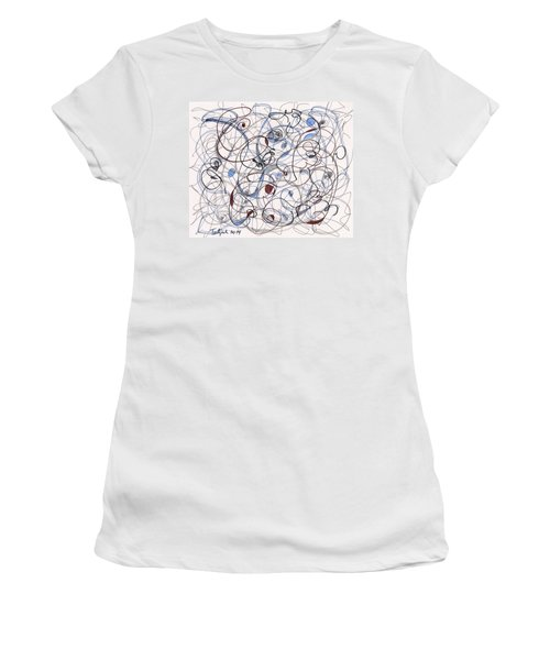 2014 Abstract Drawing #6 Women's T-Shirt (Athletic Fit)