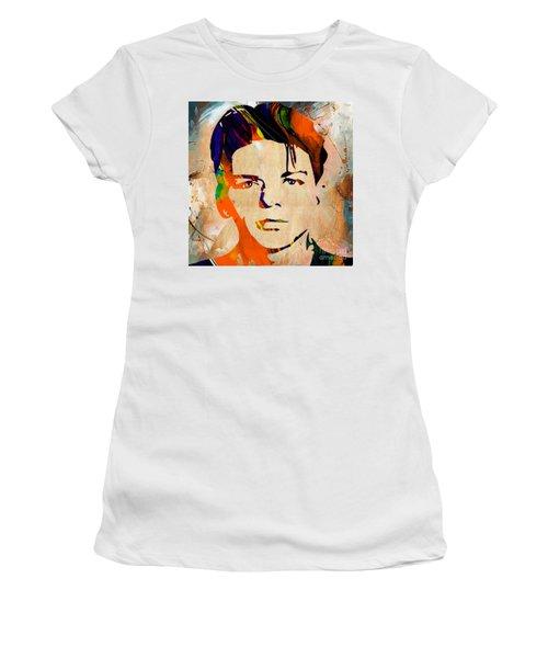 Frank Sinatra Art Women's T-Shirt (Junior Cut) by Marvin Blaine