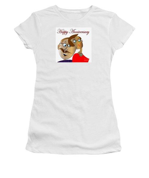 Happy Anniversary Women's T-Shirt (Junior Cut) by Iris Gelbart