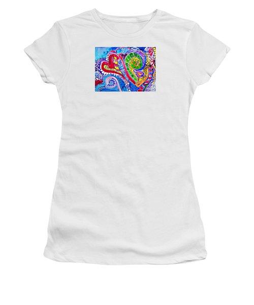 Love Is In The Air Women's T-Shirt (Junior Cut) by Sandra Lira
