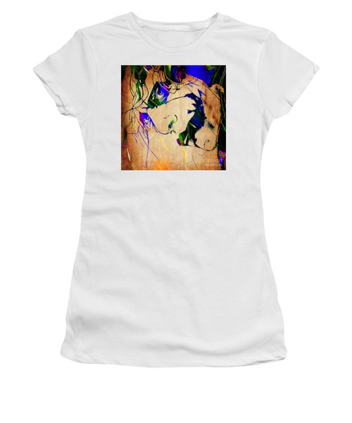 The Joker Heath Ledger Collection Women's T-Shirt (Athletic Fit)