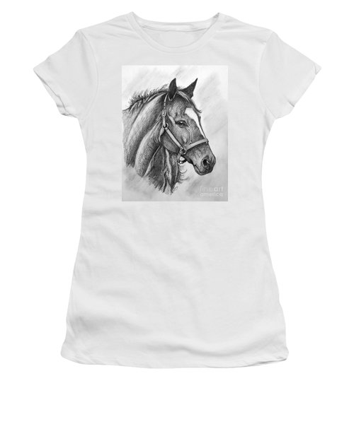Women's T-Shirt (Junior Cut) featuring the drawing Zenyatta by Patrice Torrillo