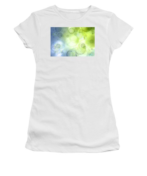 Abstract Background Women's T-Shirt (Junior Cut) by Les Cunliffe