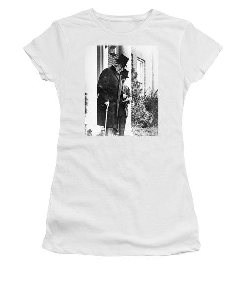 Women's T-Shirt (Junior Cut) featuring the photograph Woodrow Wilson (1856-1924) by Granger