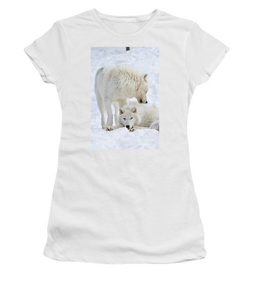 Arctic Wolves Women's T-Shirt (Athletic Fit)