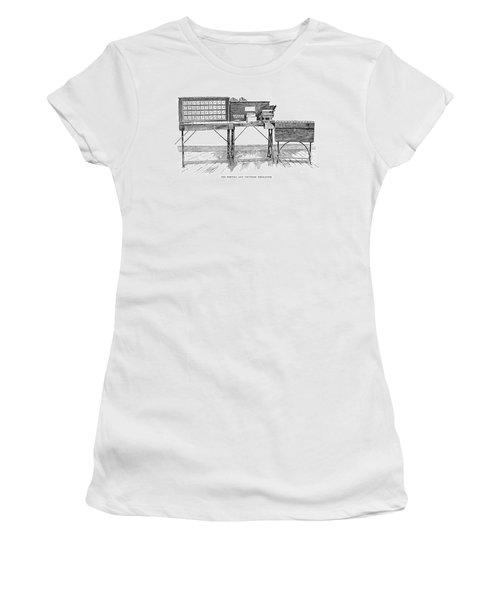 Census Machine, 1890 Women's T-Shirt