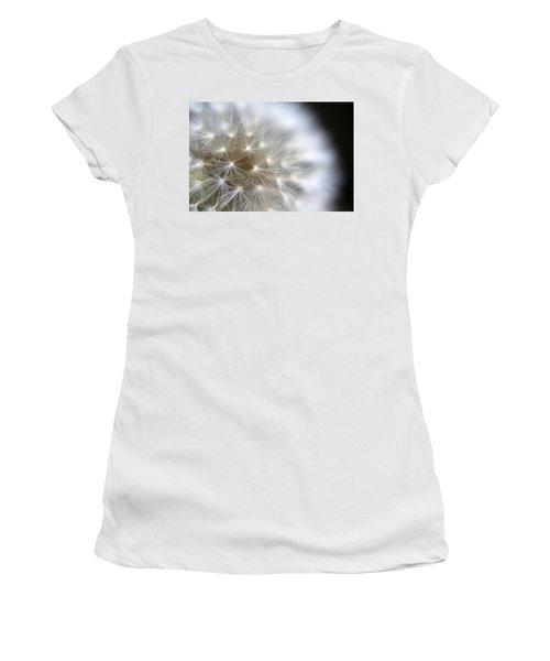 Dandelion Backlit Close Up Women's T-Shirt (Athletic Fit)