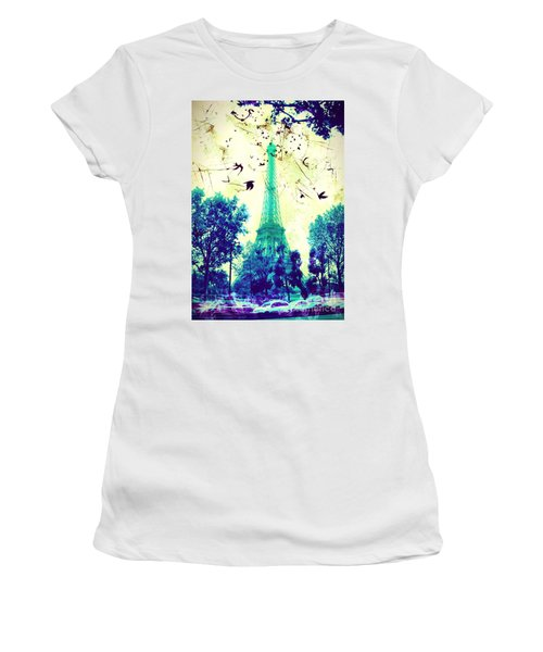 Eiffel Tower Women's T-Shirt (Athletic Fit)