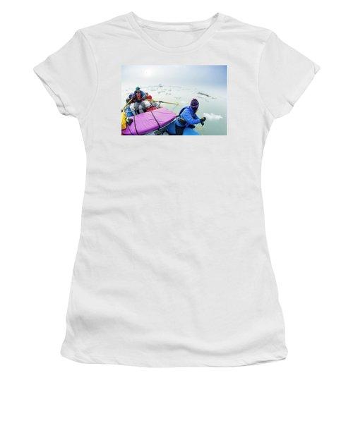 Rafters Navigating Icebergs On Alsek Women's T-Shirt