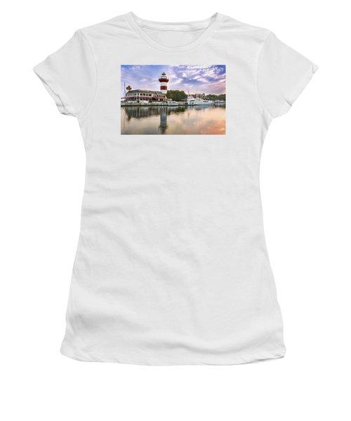 Lighthouse On Hilton Head Island Women's T-Shirt (Athletic Fit)