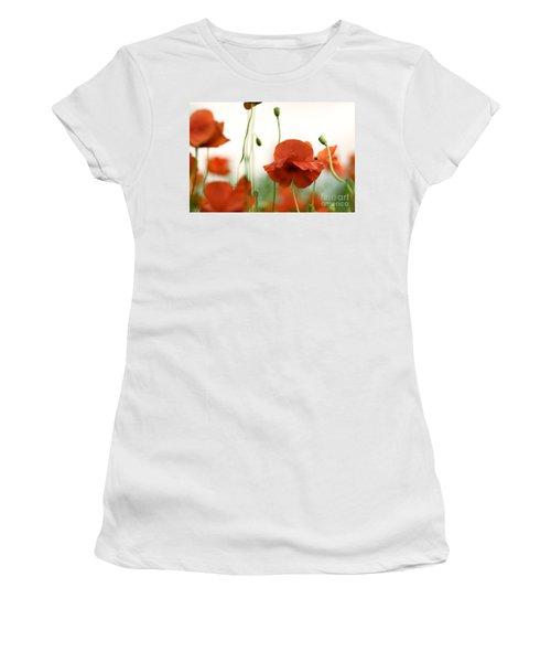 Red Poppy Flowers Women's T-Shirt