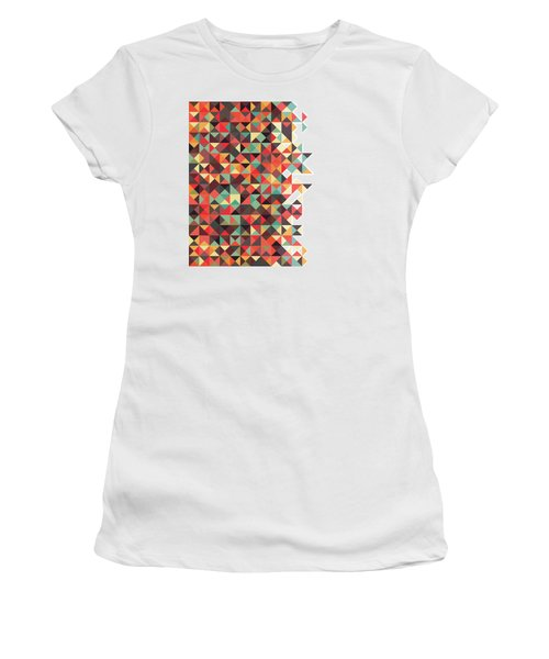 Geometric Art Women's T-Shirt (Athletic Fit)