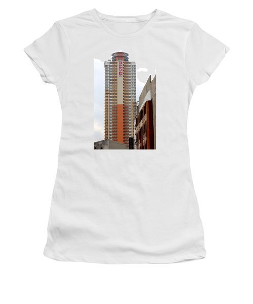 Women's T-Shirt (Junior Cut) featuring the photograph 7082515 Building by Ester  Rogers