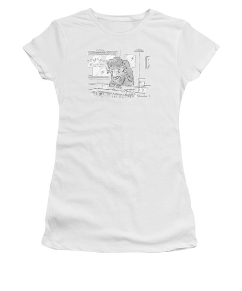 Stampeding Off A Metaphoric Cliff - And You? Women's T-Shirt