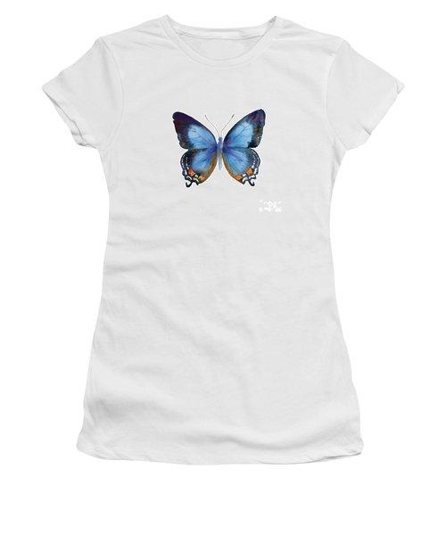 80 Imperial Blue Butterfly Women's T-Shirt