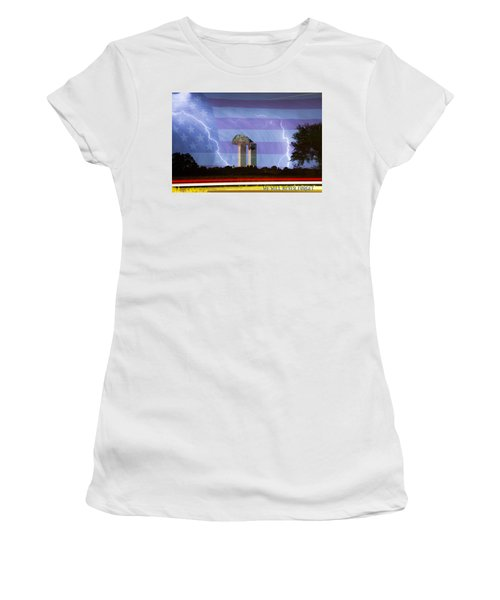9-11 We Will Never Forget 2011 Poster Women's T-Shirt (Athletic Fit)