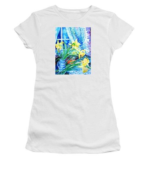 A Bouquet Of April Daffodils  Women's T-Shirt (Junior Cut) by Trudi Doyle