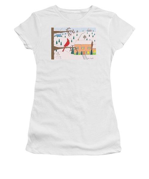 A Cardinal Christmas Women's T-Shirt