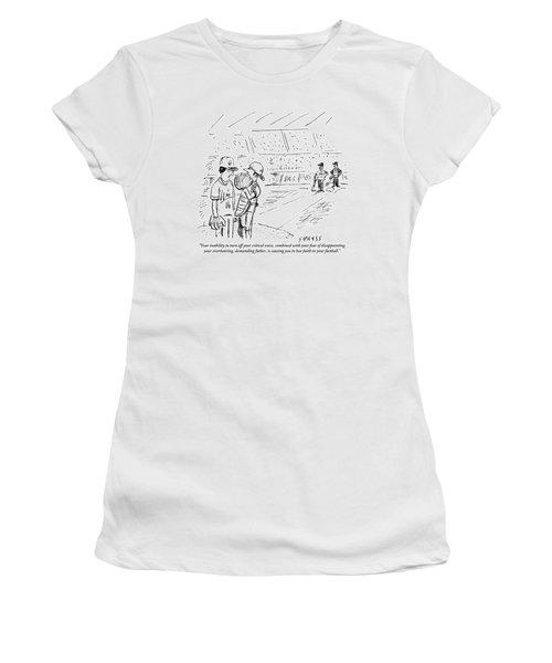 A Catcher Speaks To A Baseball Player Women's T-Shirt