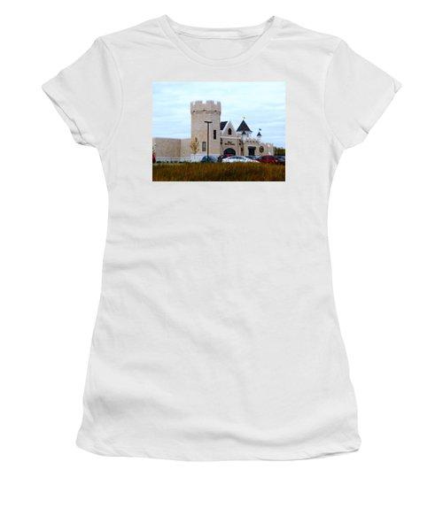 A Cheese Castle Women's T-Shirt (Junior Cut) by Kay Novy