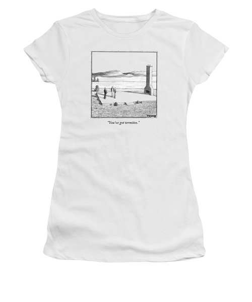 A Couple Stand In An Empty House Frame Women's T-Shirt