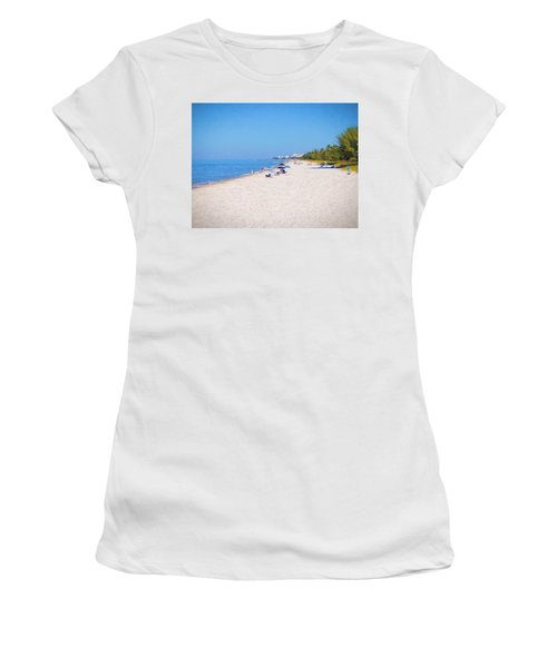 A Day At Naples Beach Women's T-Shirt (Athletic Fit)