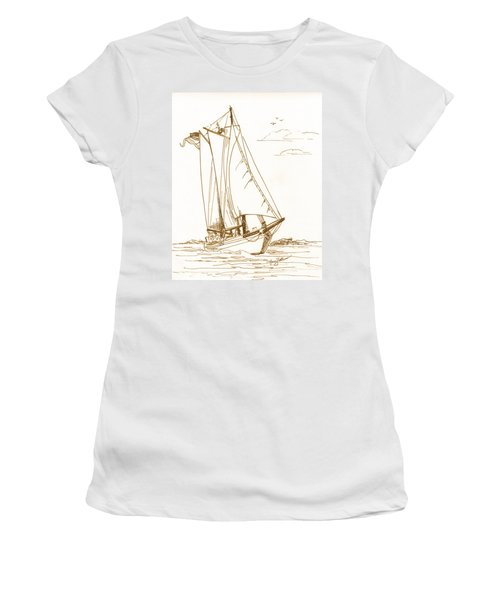 A Day On The Bay Women's T-Shirt (Athletic Fit)