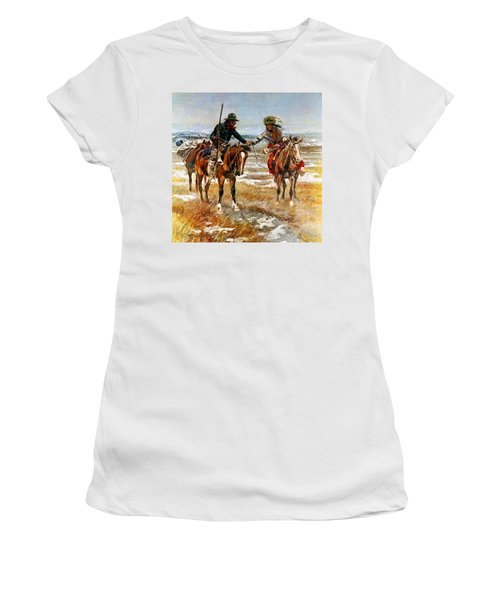 A Doubtful Handshake Women's T-Shirt (Athletic Fit)