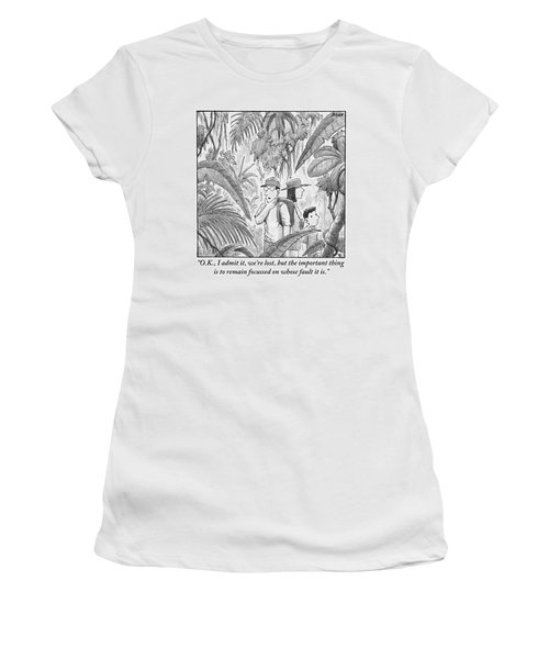A Family Is Lost In The Depths Of A Jungle Women's T-Shirt