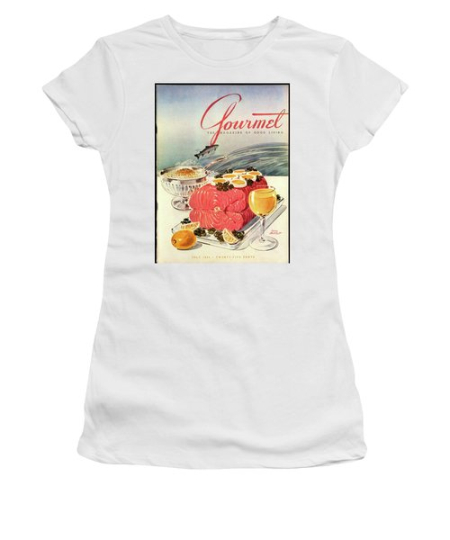 A Gourmet Cover Of Poached Salmon Women's T-Shirt