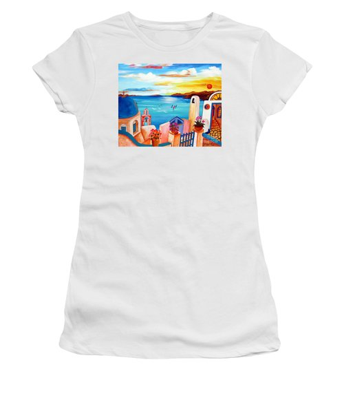 A Greek Seaview Women's T-Shirt (Athletic Fit)