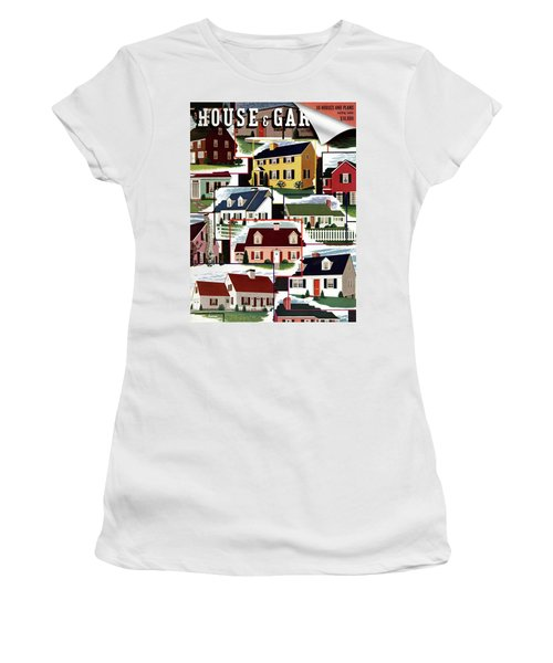 A House And Garden Cover Of Suburban Houses Women's T-Shirt