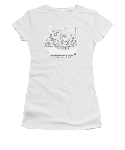 A Husband Talks To His Therapist Women's T-Shirt