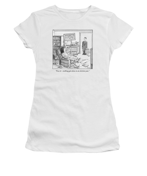 A Husband Walks Into A Trashed Room Women's T-Shirt