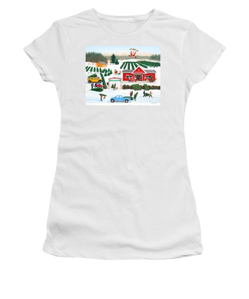 A Jolly Holly Holiday Women's T-Shirt (Athletic Fit)