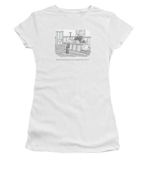 A Judge Washes Dishes In A Sink At His Desk Women's T-Shirt