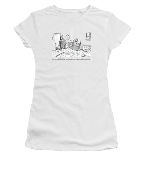 A King Carrying Luggage Walks Out On Another Man Women's T-Shirt