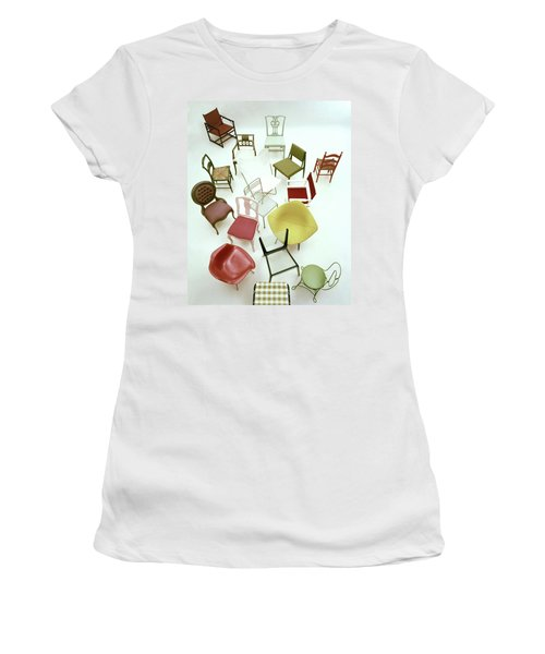 A Large Group Of Chairs Women's T-Shirt