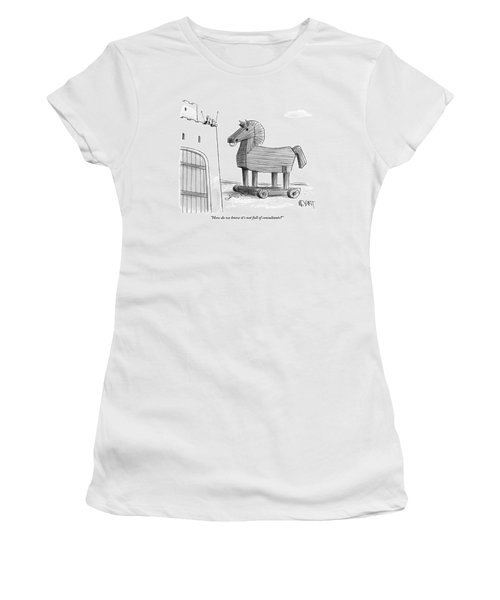 A Large Wooden Horse Women's T-Shirt
