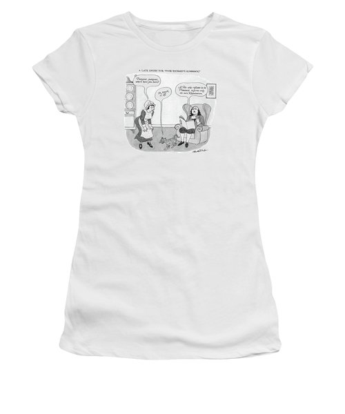 A Late Entry For Poor Richard's Almanac Women's T-Shirt
