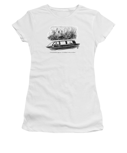 A Limo Driver Talks On His Cell Phone Women's T-Shirt