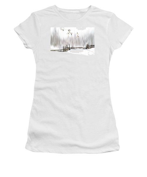 A Little Winter Magic Women's T-Shirt (Junior Cut) by Andrea Kollo
