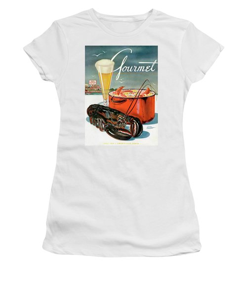 A Lobster And A Lobster Pot With Beer Women's T-Shirt