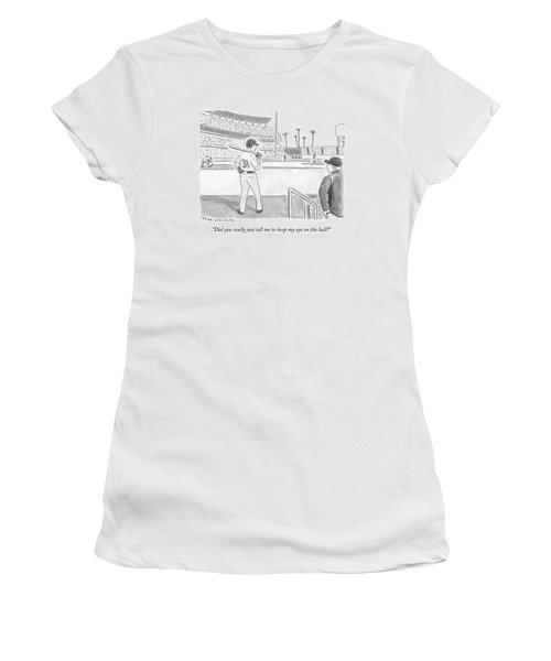 A Major League Baseball Player On Deck Women's T-Shirt