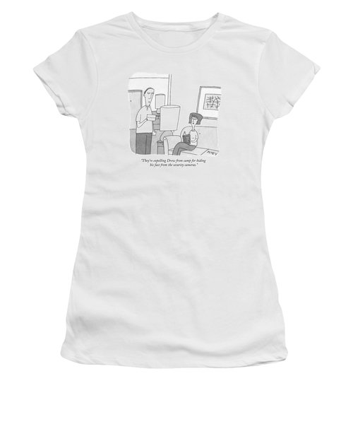 A Man Reads A Letter Aloud To His Wife Women's T-Shirt