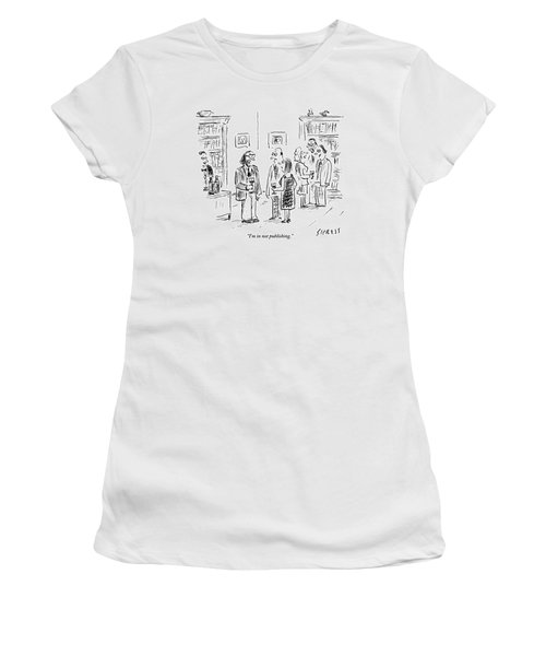 A Man Talks To A Couple At A Cocktail Party Women's T-Shirt